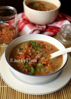 Paddas Porridge dengan Slow Cooker - Si Bubur Daging yang Nikmat   Just Try & Taste