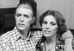 David Bowie and ex-wife Angie 70s.