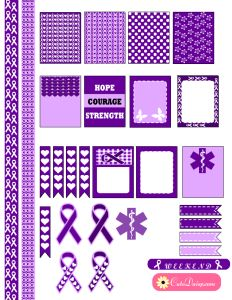 Free Printable Epilepsy Awareness Stickers for ECLP