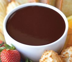 Outrageous Orange Chocolate Fondue - Recipe, Desserts, Holidays, Quick, Easy, Vegetarian