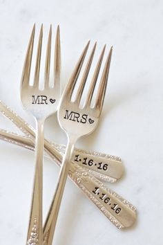 On the hunt for cute Mr. & Mrs. forks? Look no more. Here are a few of my favorites!