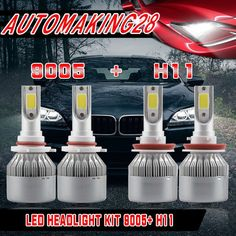 Cool Great LED Headlight Bulb for 2007-2017 Toyota Camry High Beam 9005+Low Beam H11 Kit US 2017/2018