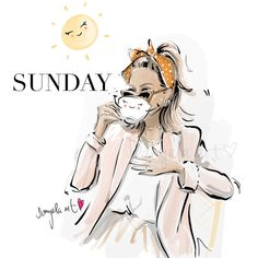 WEEKEND VIBES by @carmushka ❤️ Enjoy th😌odsy and get ready for the new week! ❤️ . #danyelaart #danyelaartdesign #danyelaartillustrations… Fashion Sketches, Art Sketches, Sunday Quotes, Good Morning Greetings, Magic Art, New Week, Weekend Vibes, Happy Sunday, Girl Quotes