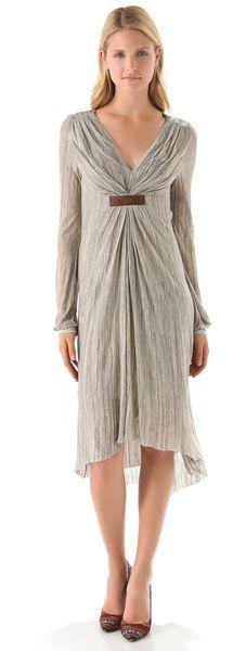 Gathered Empire Dress - Lyst