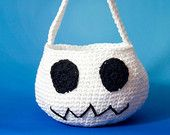 Ghost Goody Bag, Toddler's Halloween Trick or Treat Bag, White Ghost Candy Bag - pinned by pin4etsy.com