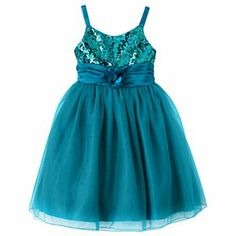 Princess Faith Sequin Dress (7-16); also available in fuchsia and purple