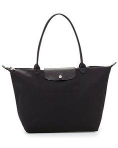 Longchamp Le Pliage Neo Large Shoulder Tote Bag, Black