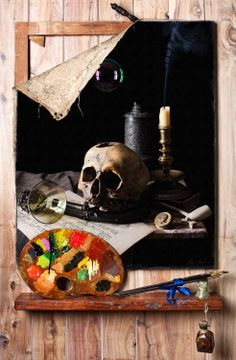 Las vanidades de Kevin Best  Vanitas Still Life in the style of Cornelius Gijsbrechts