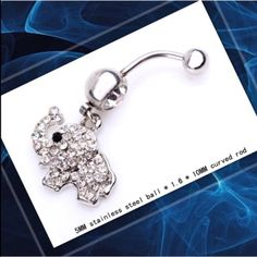 Lucky elephant belly ring Cute, sparkly elephant belly ring 3 available  Accessories
