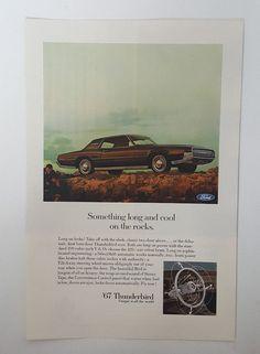 Vintage 1967 Magazine Ad Ford Thunderbird - Illustrated - 390 or 428 V8