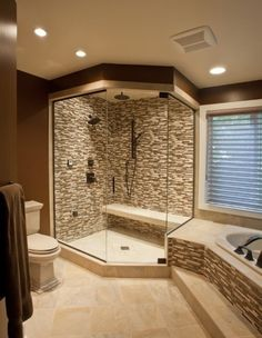 Roomy shower ... via Criner Remodeling