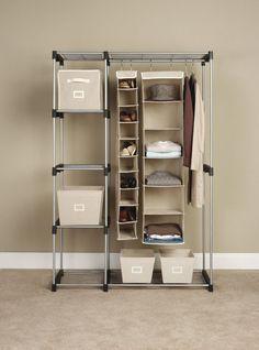 Closet Organizer Hanger Shelves Portable Adjustable Wardrobe Space Saver  Clothes