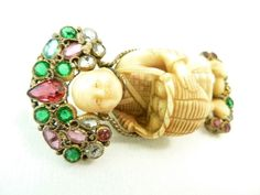 vintage asian figural jewelry jewelry | Vintage Museum Collectible Signed Hobe Asian Theme Figural Pin For ...