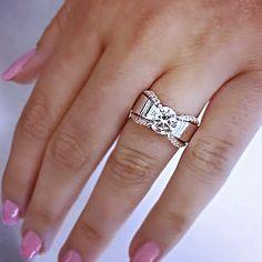 14k White Gold Gabriel & Co. Diamond Engagement Ring
