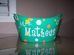 Cute personalized bucket