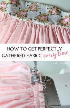 How to get Perfectly Gathered fabric EVERY time! For more sewing patterns, sewing tips and sewing tutorials visit http://you-made-my-day.com/
