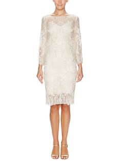 Embellished Lace Cocktail Dress by Marchesa Couture at Gilt