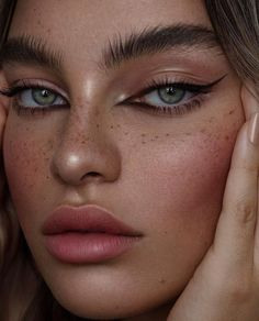Cats Eye # Makeup # Beauty – Cats Eye # Make Up # Beauty – … – Famous Last Words Cat Eye Makeup, Makeup Art, Face Makeup, Makeup Hacks, Makeup Ideas, Cat Eyeliner, Makeup Style, Exotic Eye Makeup, Faux Freckles Makeup