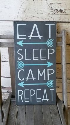 Camping Sign, camping Decor, eat sleep camp repeat Camping, Glamping, camping…