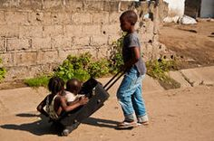 Kids playing in Africa