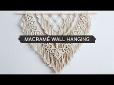 Want to make your own Macrame wall hanging? Check out 15 DIY Easy Macrame Wall Hangings for Beginners and get started on your own project today! Free Macrame Patterns, Wall Patterns, Quilt Patterns, Canvas Patterns, Macrame Wall Hanging Patterns, Macrame Design, Macrame Projects, Diy Projects, Macrame Tutorial