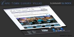 Cape Town Luxury Villas – Index and Summary By Nick Ray Ball March 2016 Cape Town Luxury Villas is an OTA (On-line Travel Agent) specialising in hi en African Safari, Luxury Villa, Cape Town, Business Planning, Summary, Villas, Software, Presentation, March