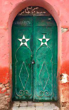 Marrakech, Morocco by doorssssssss Moroccan Doors, Morrocan Decor, When One Door Closes, Moroccan Style, Moroccan Art, Door Gate, Marrakech Morocco, Islamic Architecture, Door Knockers