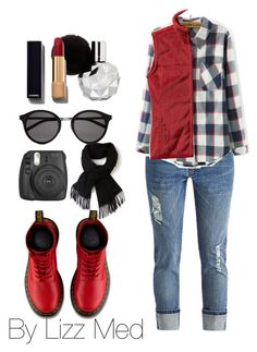 """""""Comfort"""" by lizz-med ❤ liked on Polyvore featuring Dr. Martens, Patagonia, Yves Saint Laurent, Lacoste, Chanel, women's clothing, women, female, woman and misses"""