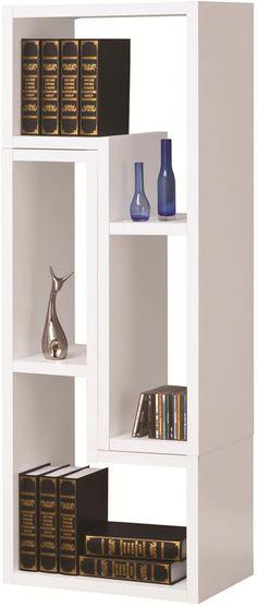 Modern Bookcase in White | Chicago Furniture Stores