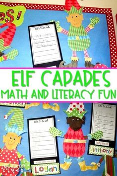 Elf math and literacy themed activities for kindergarten and first-grade.  Great for Christmas time!  Centers, writing, and more!