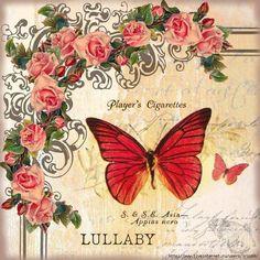 images attach c 9 106 594 Decoupage Vintage, Vintage Diy, Vintage Labels, Vintage Ephemera, Vintage Cards, Vintage Paper, Vintage Butterfly, Butterfly Art, Vintage Flowers