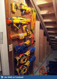 Nerf Gun storage - in-the-corner