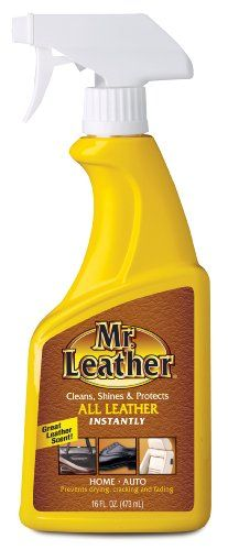 Mr. Leather 707371 Cleans, Shines and Protects Leather Conditioner One Step Liquid Spray - 16 oz. Mr. Leather