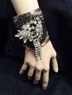 vintage art deco copper and silver bracelet | More on the myLusciousLife blog: www.mylusciouslife.com