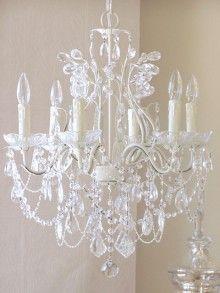 shabby chic #decor #shabbychic #white #chandelier