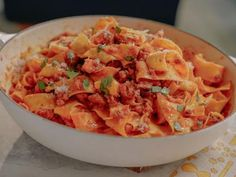 Pappardelle with Sausage Ragu Recipe | Giada De Laurentiis | Food Network