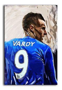 Jamie Vardy of Leicester City FC Print – pop art designed by Canvas Art Rocks