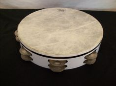 "White REMO PTS 10"" Double 8 Jingle Tamborine  #REMO"