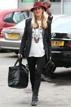 Denise van Outen out in London, England -September 28, 2012