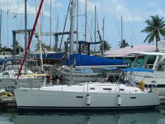 """34' Beneteau 343, 2007.Asking $69,000.  The Beneteau 343 is a popular design  for a mid-sized cruising boat that is offshore capable yet also in lighter airs. For her moderate length she is particularly spacious and actually has a larger separate shower stall and aft cabin bed than her larger sister ships. She just finished a """"phase-out"""" bringing all aspects of the vessel up to an excellent cosmetic standard, but ensuring that all systems are fully functional. Email chris@bviyachtsales.com"""