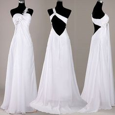 Sexy Beaded One shoulder Celebrity Dress Wedding Dresses Evening Party Prom Gown