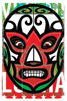 This would make a nice Luchador mask. Mexican Folk Art, Mexican Style, Aztec Mask, Mexican Wrestler, Arte Punk, Mask Drawing, Mexican Designs, Wow Art, Chicano