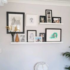 ideas for apartment living room ikea picture ledge Picture Ledge Bedroom, Ikea Picture Shelves, Photo Shelf, Picture Wall, Ikea Photo Ledge, Picture Ledge Shelf, Photo Ledge Display, Wall Ledge, Decoration Inspiration