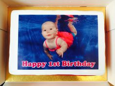 Another way to use your under water pictures from Water Babies...on a cake! #waterbabies #cake #GBBO #babyswimming #baking