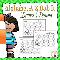 Alphabet dab it printables for your insect unit! This packet is designed to offer a fun, engaging and educational way to practice the alphabet during your insect unit.  This packet is low prep.