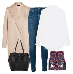 """""""Untitled #4596"""" by ericacavaco12 ❤ liked on Polyvore featuring The Row, Alexander McQueen, Equipment, Jeffrey Campbell and CÉLINE"""