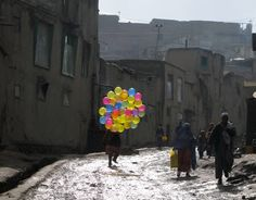 Balloons in Streets of Kabul