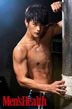 BEAST Kikwang exposes muscled abs for Mens Health