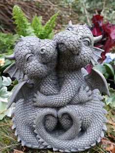 Dragon Statue, Dragon Art, Dragon Garden, Dragon Figurines, Dragon Pictures, Cute Dragons, Fantasy Dragon, Fairy Art, Garden Statues