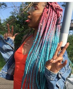 Long Box Braids: 67 Hairstyles To Upgrade Your Box Braids - Hairstyles Trends Box Braids Hairstyles, Braided Hairstyles For Black Women Cornrows, Black Ponytail Hairstyles, Curly Hair Braids, Curly Hair Styles, Yarn Braids, African Braids Styles, Braid Styles, Black Hair Ombre